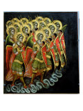The Celestial Army Giclée-tryk af Ridolfo di Arpo Guariento