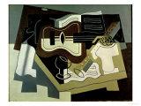 Guitar and Clarinet, 1920 Giclee-trykk av Juan Gris