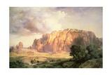 The Pueblo of Acoma, New Mexico Giclée-tryk af Thomas Moran