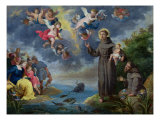 St. Anthony of Padua Preaching to the Fish Giclee Print by Victor Wolfvoet
