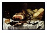 Still Life with Ham Reproduction procédé giclée par Pieter Claesz