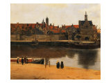 View of Delft, c.1660-61 Giclée-vedos tekijänä Johannes Vermeer