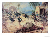 U.S. Marines Capture the Barbary Pirate Fortress at Derna, Tripoli, 27th April 1805 Giclee Print by C.h. Waterhouse