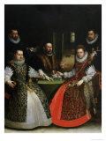 The Gozzadini Family Giclée-tryk af Lavinia Fontana