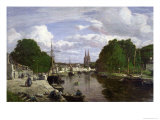 The Port at Quimper, 1857 Giclee Print by Eugène Boudin