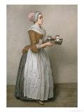 The Chocolate Girl Giclée-tryk af Jean-Etienne Liotard