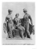 Aphrodite, Helen and Paris, from Tanagra Lámina giclée