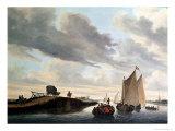 The Water Coach Giclee Print by Salomon van Ruysdael