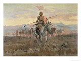 Stolen Horses, 1911 Giclee Print by Charles Marion Russell