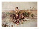 Our Warriors Return, 1895 Giclée-tryk af Charles Marion Russell