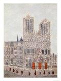 Rheims Cathedral, c.1923 Giclée-Druck von Louis Vivin