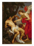 Saint Sebastian and the Angel Giclée-Druck von Sir Anthony Van Dyck