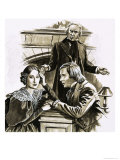 Robert Schumann's Proposal to Pianist Clara Wieck Was a Turning Point in His Life Giclee Print by Roger Payne
