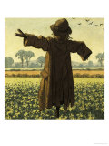 Scarecrow Giclee Print by Ronald Lampitt