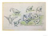 Ducks Giclee Print by Alfred Sisley