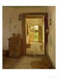 Farmhouse Interior with an Open Door Giclée-Druck von Gustav Vermehren
