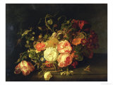 Flowers and Insects, 1711 Lámina giclée por Rachel Ruysch
