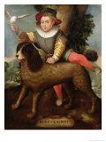 Boy and Dog, Bibius Vincit Giclée-tryk af Sofonisba Anguisciola
