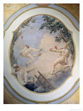 Pulcinella on a Swing, 1797 Giclée-tryk af Giandomenico Tiepolo