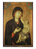 Crevole Madonna, c.1284 Giclée-tryk af  Duccio di Buoninsegna