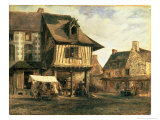 Market Place in Normandy, c.1832 Giclee Print by Pierre Etienne Theodore Rousseau