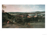 View Across Greenwich Park Towards London, Painted For Louis XV in Paris Giclee Print by Jean Rigaud