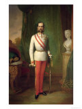 Franz Joseph I, Emperor of Austria and King of Hungary Giclee Print by Franz Russ