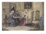 Scandal and Tea, Published 1893 Gicléetryck av Walter Dendy Sadler
