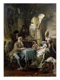 The Chess Players, 1887 Giclee Print by Carl Herpfer