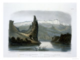 Citadel Rock on the Upper Missouri, Plate 18, Travels in the Interior of North America Stampa giclée di Karl Bodmer