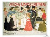 The Street, Poster For the Printer Charles Verneau, 1896 Giclée-vedos tekijänä Théophile Alexandre Steinlen