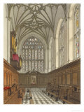 Winchester College Chapel, History of Winchester College, Engraved by William James Bennett Giclee Print by Frederick Mackenzie
