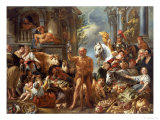 Diogenes Searching For an Honest Man, c.1650-55 Giclee-trykk av Jacob Jordaens