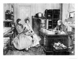 In the Solicitor's Office, Engraved by James Dobie Gicléetryck av Walter Dendy Sadler