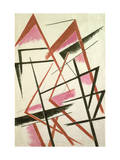 Linear Construction, c.1921 Giclee-trykk av Liubov Sergeevna Popova