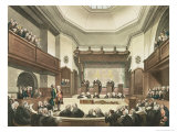 Court of Common Pleas, Westminster Hall, from The Microcosm of London, Engraved by J. C. Stadler Giclee Print by Thomas Rowlandson
