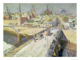 The Moskva River Bridge, 1914 Giclee Print by Konstantin A. Korovin