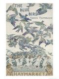 Design For Playbill For The Bluebird, 1909 Gicléetryck av Frederick Cayley Robinson