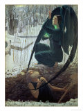 The Death and the Gravedigger, 1900 Giclee Print by Carlos Schwabe