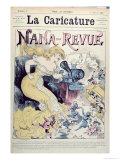 Nana-Revue, Caricature, Emile Zola and Realist Novels, La Caricature, 3rd January 1880 Giclee Print by Albert Robida