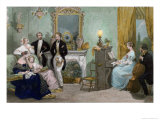 Family Concert, c.1840 Giclee Print by Eugene Louis Lami