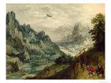 The Flight Into Egypt, c.1598-1623 Giclée-Druck von Tobias Verhaecht