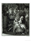 Yes or No  1781, Engraved by N. Thomas Giclee Print by Jean-Michel Moreau the Younger
