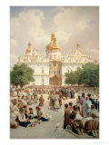 The Great Church of Kievo-Pecherskaya Lavra in Kiev, 1905 Giclée-Druck von Vasilij Vereshchagin