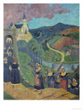 The Pardon of Notre-Dame-Des-Portes at Chateauneuf-Du-Faou, c.1894 Gicléetryck av Paul Serusier