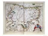 Map -Transylvania Sibenburgen Giclee Print