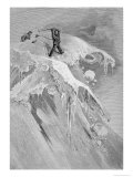 The Summit of the Moming Pass in 1864, The Ascent of the Matterhorn Giclee Print by James Mahoney
