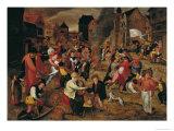 The Fires of St. Martin Giclée-Druck von Martin Van Cleve