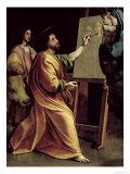 St. Luke Painting the Virgin Reproduction procédé giclée par  Raphael