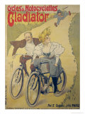 Poster Advertising Gladiator Bicycles and Motorcycles Giclee Print by Ferdinand Misti-mifliez